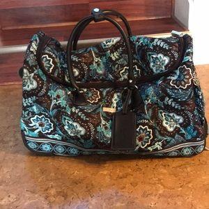 2bb798f819 Vera Bradley Bags - Vera Bradley Java Blue Rolling Duffel